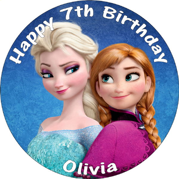 DISNEY FROZEN ANNA & ELSA PERSONALISED 8